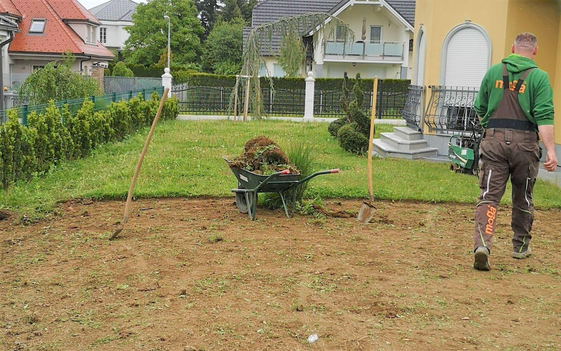 Odstranitev obstoječe travne ruše