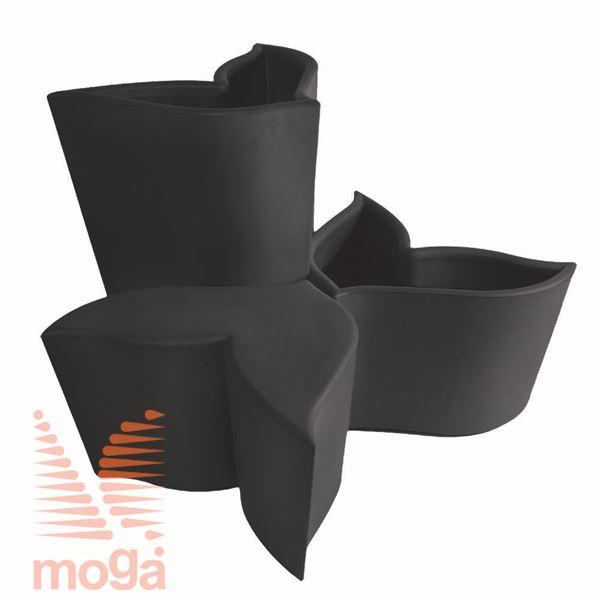 Lonec Foglia |Antracit|FI max: 84,4 cm x V: 100,7cm|