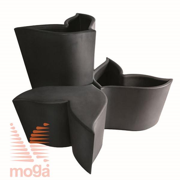 Lonec Foglia |Črna|FI max: 84,4 cm x V: 50,7 cm|