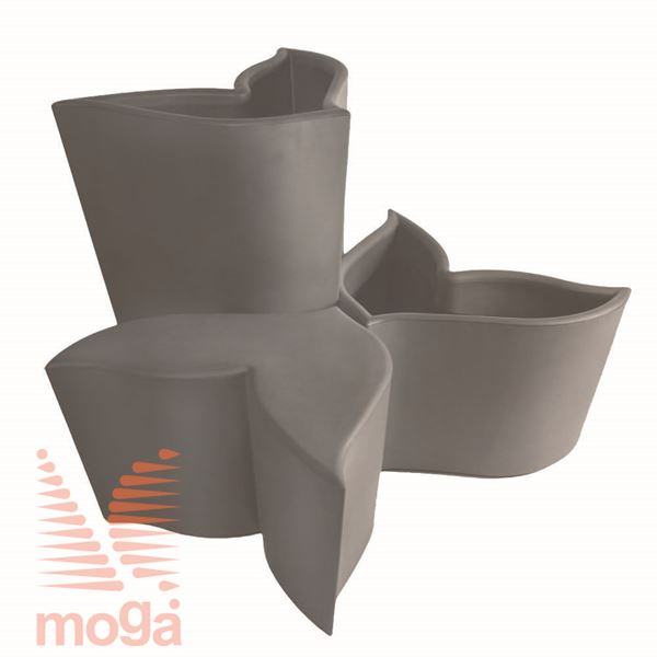 Sedalo Foglia |Golobje siva|FI max: 84,4 cm x V: 50,7 cm|