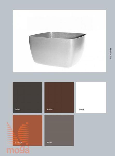 Lonec Osaka Low |Oranžna sijaj|D: 90 cm x Š: 90 cm x V: 50 cm|Vol: 280 L|