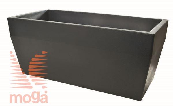 Lonec Acquario - pravokoten |Antracit|D: 80/74 cm x Š: 40/34 cm x V: 34cm|Vol:75 L|