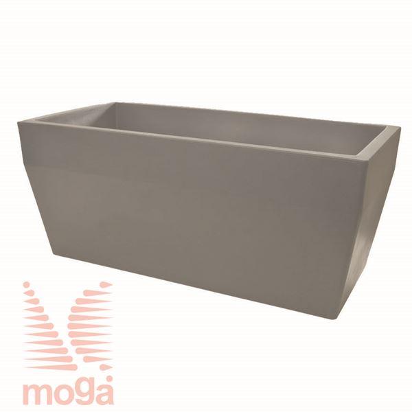 Lonec Acquario - pravokoten |Golobje siva|D: 80/74 cm x Š: 40/34 cm x V: 34cm|Vol:75 L|