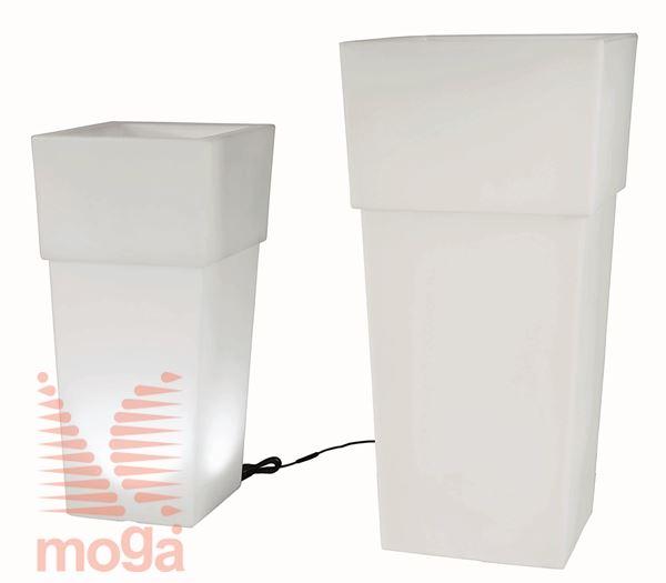 Lonec Aquila Lights - kvadraten |Bela|D: 48/37 cm x Š: 48/37 cm x V: 100/29,5 cm|