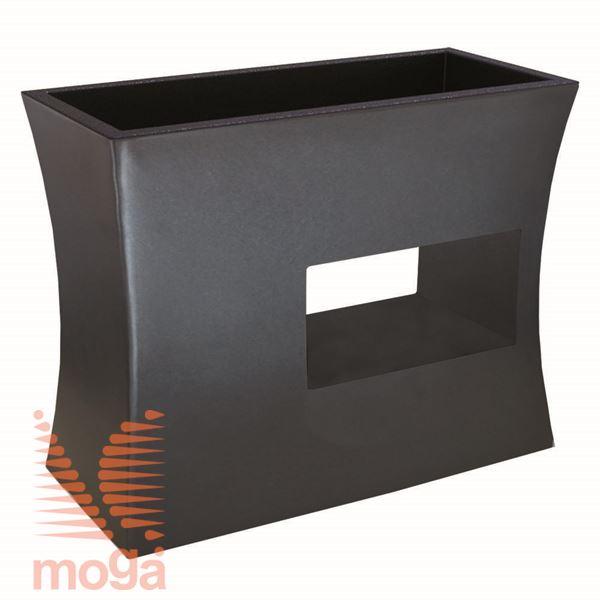 Lonec Argo |Črna|D: 100/92 cm x Š: 45/37 cm x V: 80/25 cm|