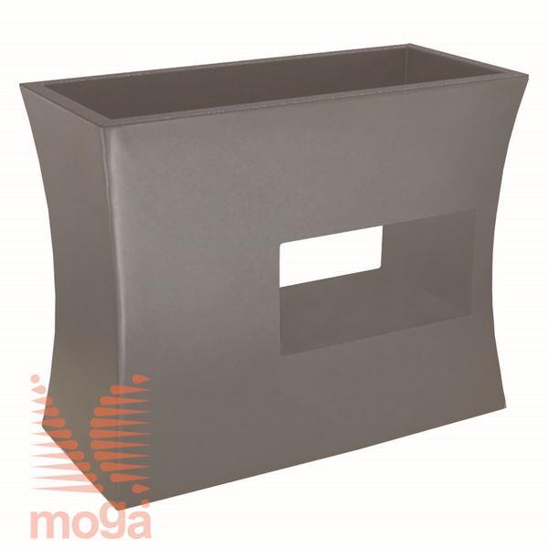 Lonec Argo |Golobje siva|D: 100/92 cm x Š: 45/37 cm x V: 80/25 cm|