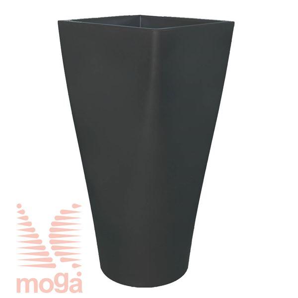 Lonec Auriga |Antracit|D: 50/42 cm x Š: 50/42 cm x V: 100/25 cm|