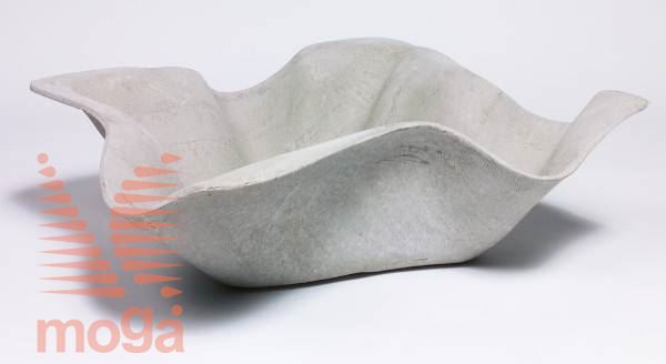 Lonec Biasca |Siva|D: 93 cm x Š: 93 cm x V: 32 cm|Vol: 31 L|
