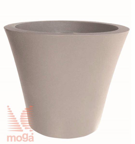Lonec Cratere - okrogel |Golobje siva|FI: 60/50 cm x V: 52 cm|Vol: 91 L|