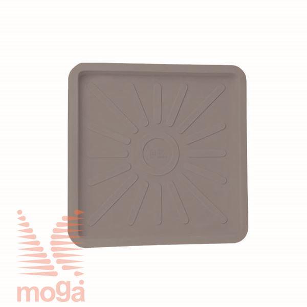 Podstavek Cratere - kvadraten |Golobje siva|D: 31/26 cm x Š: 31/26 cm|za lonec vol: 34 L|