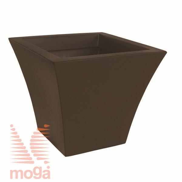 Lonec Cratere - kvadraten |Bronasta|D: 40/32 cm x Š: 40/32 cm x V: 34 cm|Vol: 34 L|