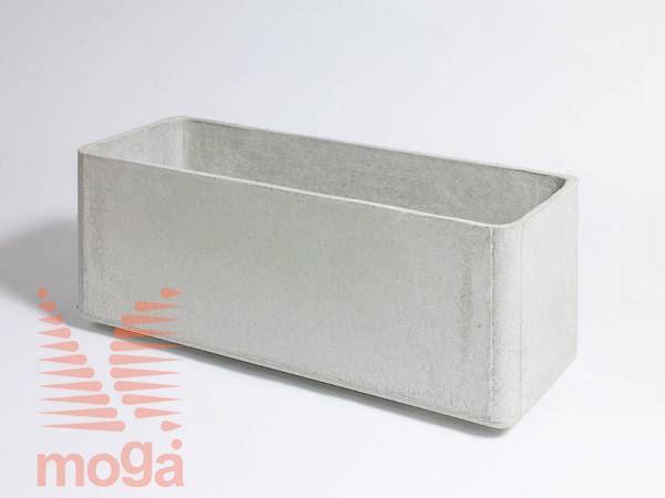 Lonec Delta 35 - pravokoten |Siva|D: 100 cm x Š: 30 cm x V: 35 cm|Vol: 85 L|