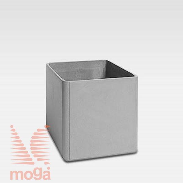 Lonec Delta 45 - kvadraten |Siva|D: 80 cm x Š: 80 cm x V: 45 cm|Vol: 260 L|