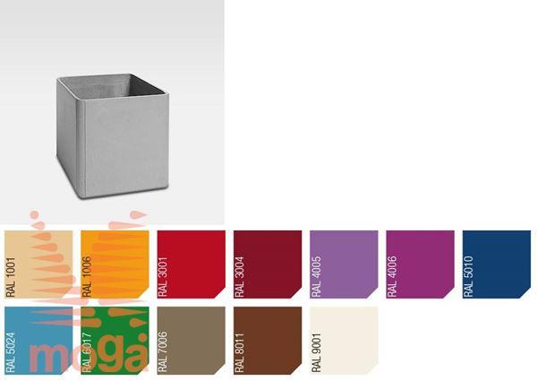Lonec Delta 45 - kvadraten |RAL|D: 60 cm x Š: 60 cm x V: 45 cm|Vol: 120 L|