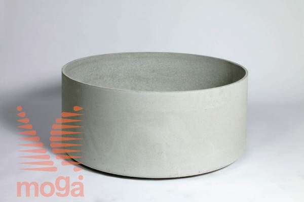 Lonec Delta 45 - okrogel |Siva|FI: 50 cm x V: 45 cm|Vol: 88 L|