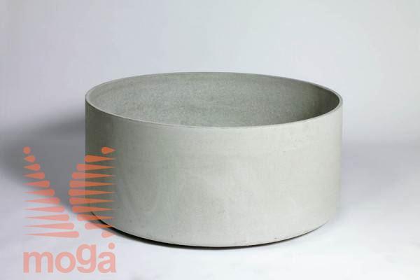 Lonec Delta 45 - okrogel |Siva|FI: 100 cm x V: 45 cm|Vol: 330 L|