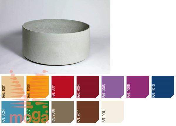 Lonec Delta 45 - okrogel |RAL|FI: 75 cm x V: 45 cm|Vol: 185 L|