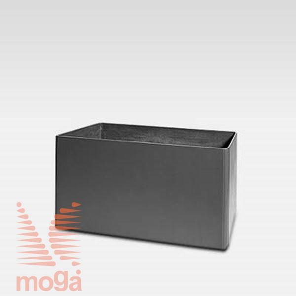 Lonec Delta 45 - pravokoten |Antracit|D: 60 cm x Š: 45 cm x V: 45 cm|Vol: 110 L|