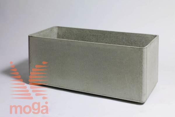 Lonec Delta 45 - pravokoten |Siva|D: 80 cm x Š: 45 cm x V: 45 cm|Vol: 140 L|