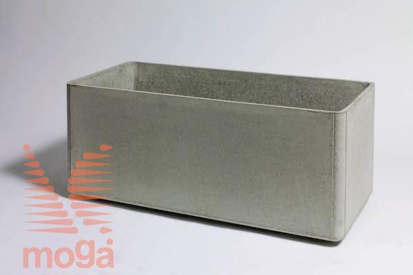 Lonec Delta 45 - pravokoten |Siva|D: 140 cm x Š: 45 cm x V: 45 cm|Vol: 260 L|