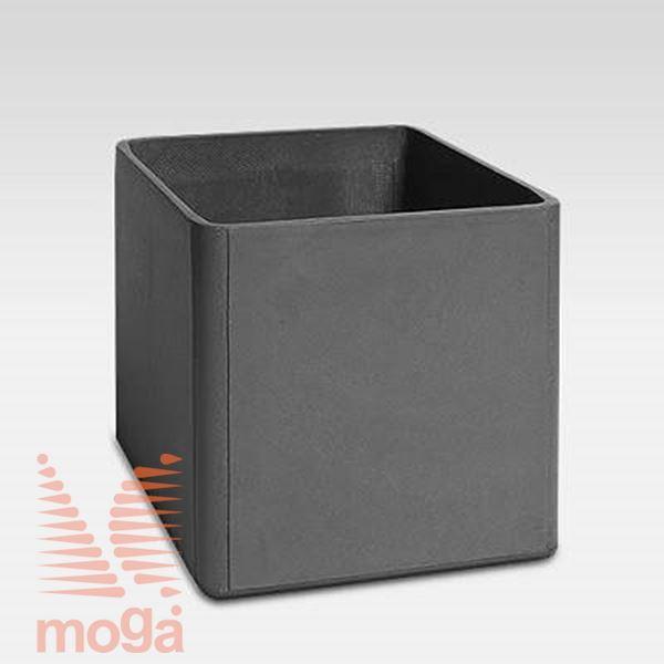 Lonec Delta 60 - kvadraten |Antracit|D: 80 cm x Š: 80 cm x V: 60 cm|Vol: 320 L|