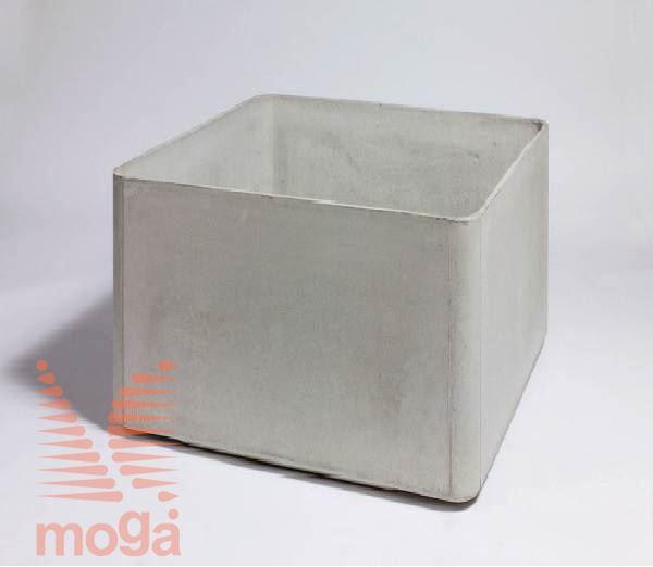 Lonec Delta 60 - kvadraten |Siva|D: 80 cm x Š: 80 cm x V: 60 cm|Vol: 320 L|