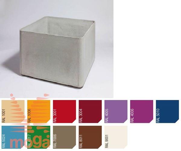 Lonec Delta 60 - kvadraten |RAL|D: 60 cm x Š: 60 cm x V: 60 cm|Vol: 180 L|
