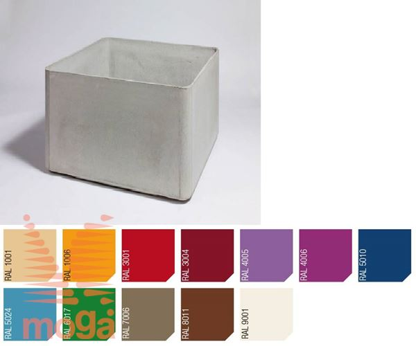 Lonec Delta 60 - kvadraten |RAL|D: 100 cm x Š: 100 cm x V: 60 cm|Vol: 570 L|