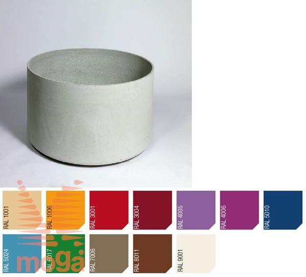 Lonec Delta 60 - okrogel |RAL|FI: 75 c. x V: 60 cm|Vol: 265 L|