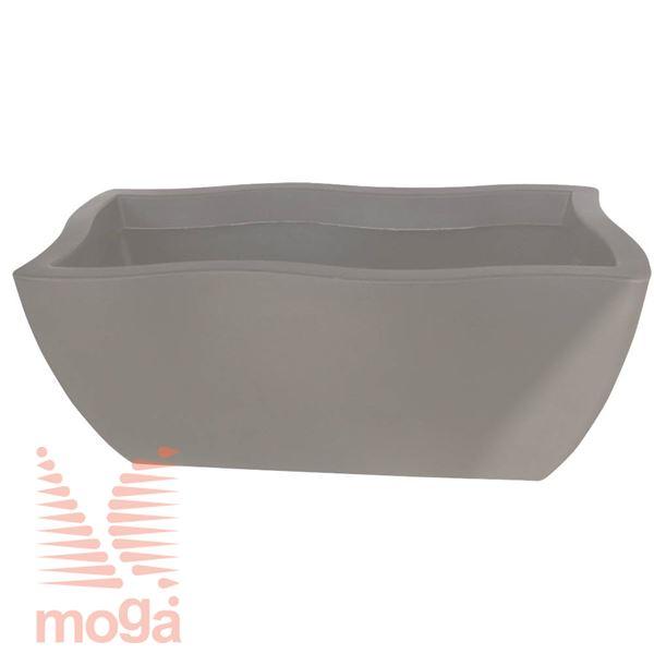 Lonec Dorado - pravokoten |Golobje siva|D: 80/70 cm x Š: 40/30 cm x V: 34 cm|Vol: 76 L|