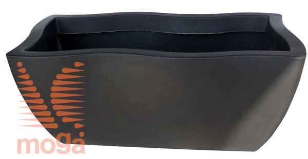 Lonec Dorado - pravokoten |Črna|D: 80/70 cm x Š: 40/30 cm x V: 34 cm|Vol: 76 L|