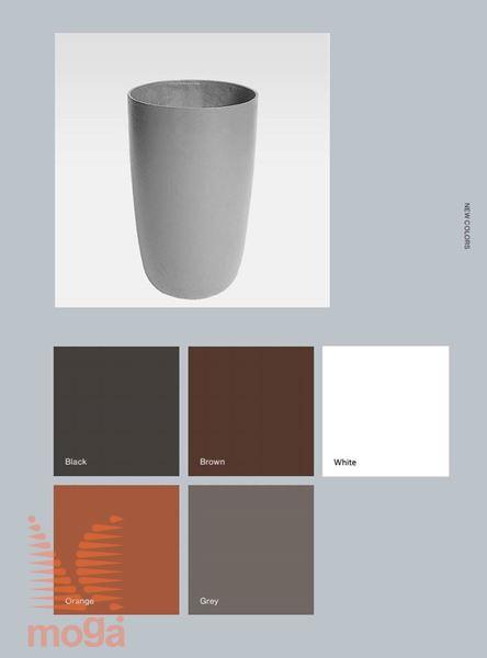 Lonec Geisha |Oranžna mat|FI: 44 cm x V: 65 cm|Vol: 85 L|