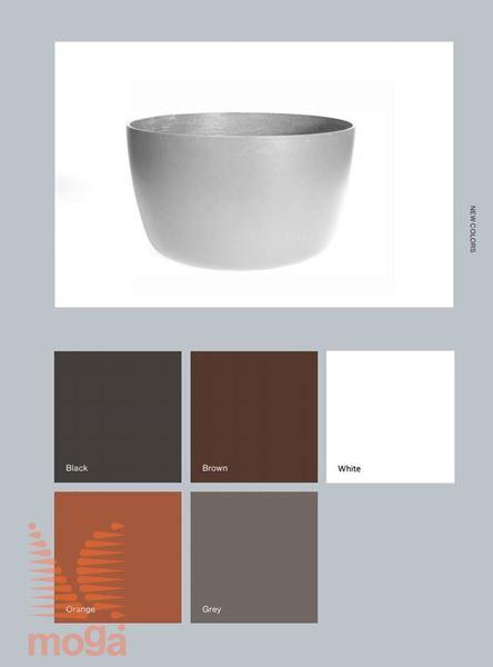Lonec Kyoto Low |Črna mat|FI: 44 cm x V: 36 cm|Vol: 40 L|