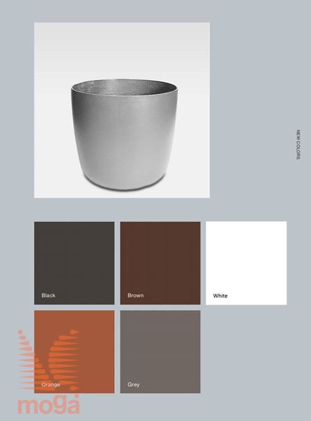 Lonec Kyoto |Oranžna mat|FI: 53 cm x V: 55 cm|Vol: 90 L|