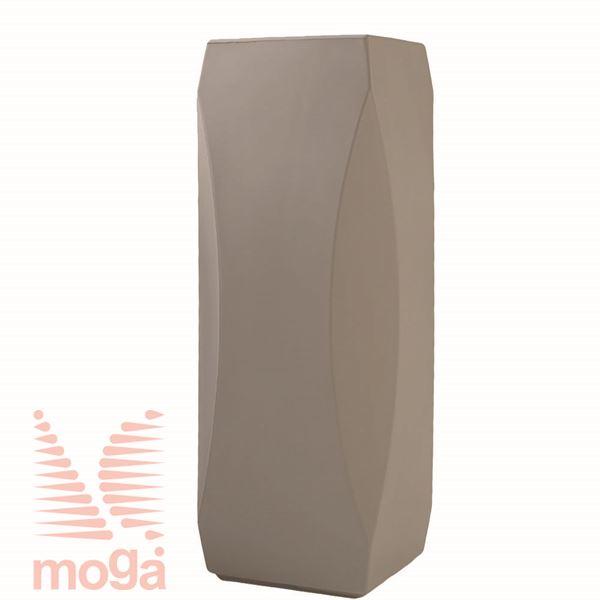 Lonec Lince - kvadraten |Golobje siva|D: 32/26 cm x Š: 32/26 cm x V: 100/25 cm|