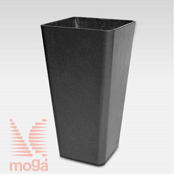 Lonec Quadra 65 |Antracit|D: 36 cm x Š: 36 cm x V: 65 cm|Vol: 49 L|