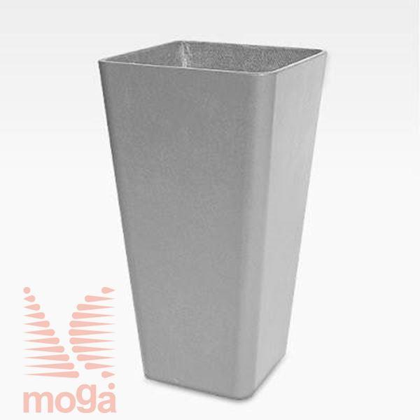 Lonec Quadra 65 |Siva|D: 36 cm x Š: 36 cm x V: 65 cm|Vol: 49 L|