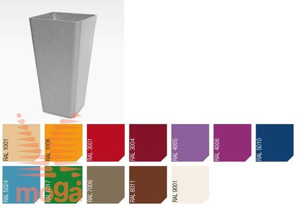 Lonec Quadra 55 |RAL|D: 34 cm x Š: 34 cm x V: 55 cm|Vol: 39 L|