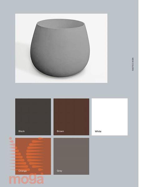 Lonec Ronco Large |Črna sijaj|FI: 70,2 cm x V: 54 cm|Vol: 150 L|