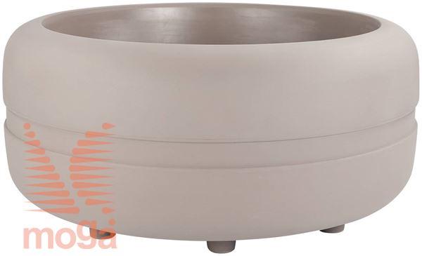 Lonec Sestante - okrogel |Golobje siva|FI: 116/94 cm x V: 53/48 cm|Vol: 470 L|
