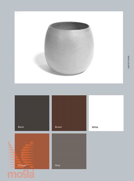 Lonec Sumo |Črna mat|FI: 45 cm x V: 50 cm|Vol: 77 L|