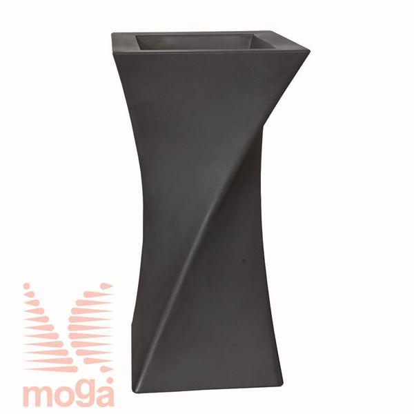 Lonec Triangolo |Antracit|D: 55/38 cm x Š: 55/38 cm x V: 100/26 cm|