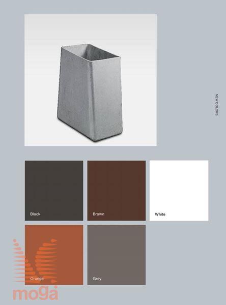 Lonec Twista |Oranžna mat|D: 60 cm x Š: 60 cm x V: 60 cm|Vol: 170 L|