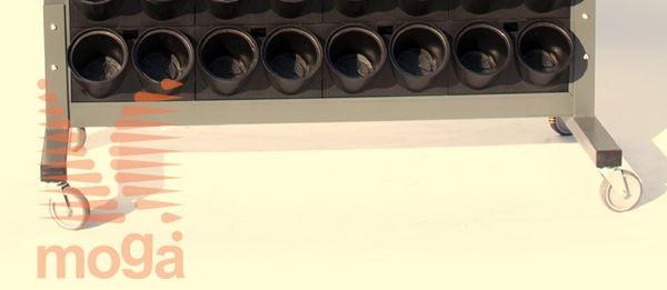 Bild von Räder für ein-/beidseitige Grüne Wand ALU mit Pixel PG14 |2x9|3x9|/|4x9|4 Stk|