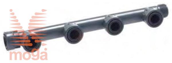 Manifold sistem PVC |4 priklopi|Z ženskim priklopom|PN10|Manifold|
