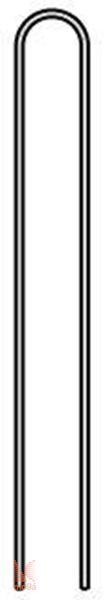 Klin kovinski - oblika U |D: 15 cm x Š: 3cm x D: 15 cm|
