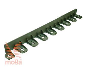 Robnik plastični L/S Stella |Zelena|D: 70 cm x V: 4,5 cm|
