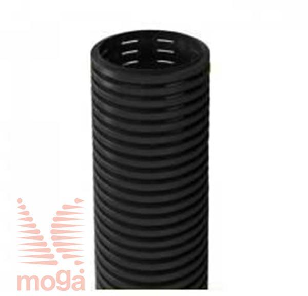 Drenažna cev |perforirana|črna|FI: 75 mm|