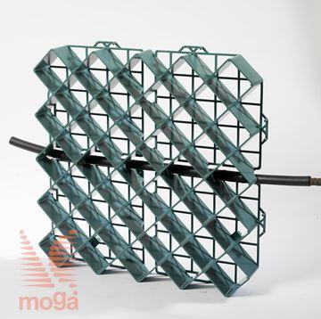 Slika Travna plošča/rešetka z opcijo DripLine |Zelena|D: 50 cm x Š: 50 cm x V: 5,0 cm|