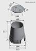 Ventilski jašek okrogel s pokrovom|Fi:  194 mm x V: 230 mm|